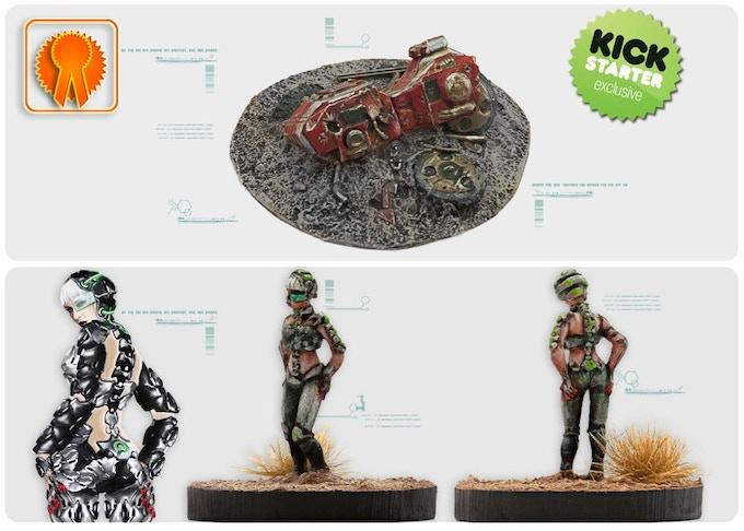 Exclusive KICKSTARTER rewards: Destroyed Hunter Scenery and Heimdall Agent model.