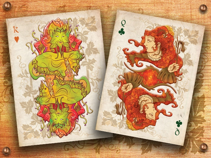 A Seasonal Nature deck with Colourful Hand Drawn Original Artworks featuring ancient deities and floral tributes.