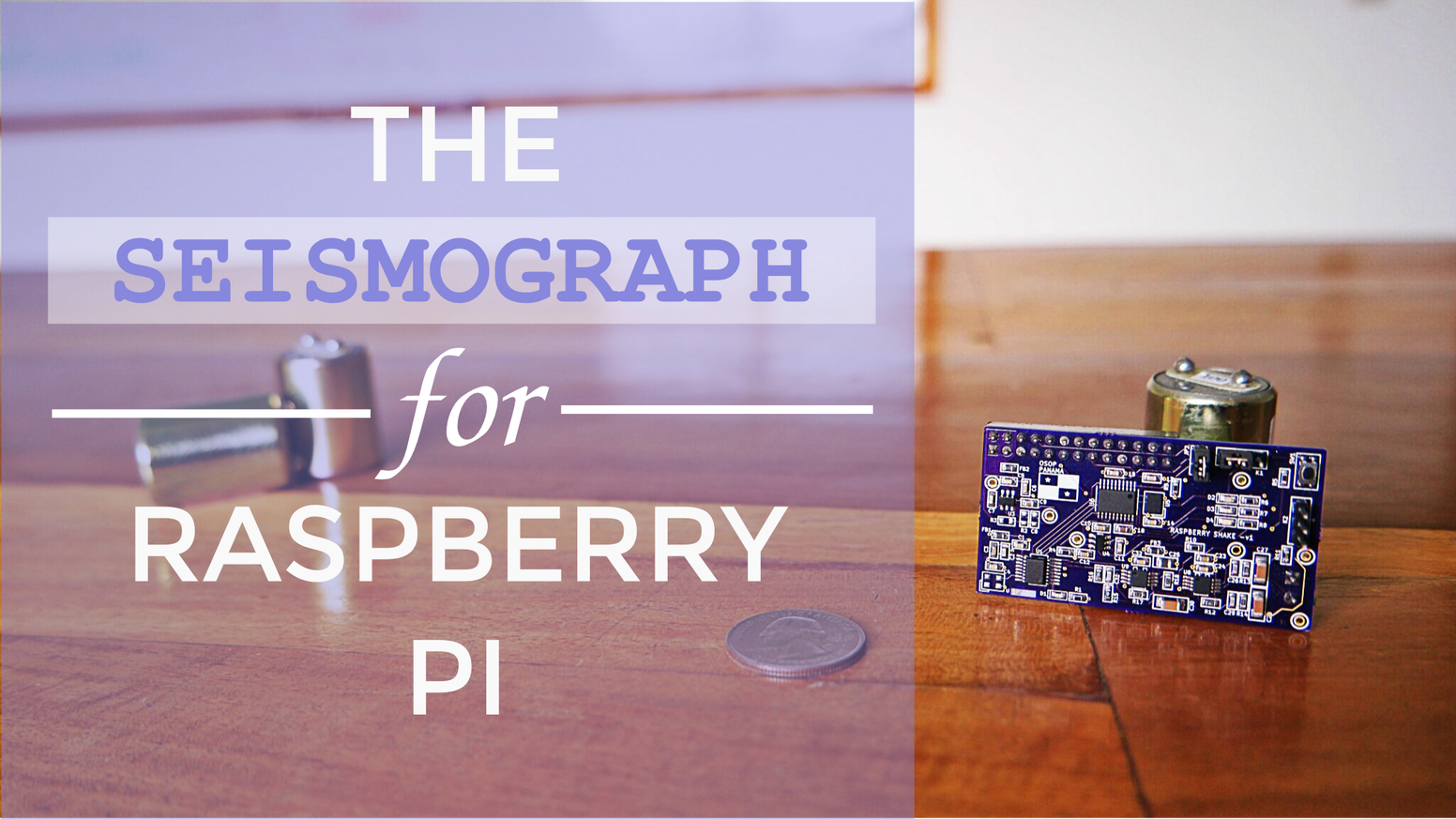 A professional grade personal seismograph made by OSOP. Plug it into your Raspberry Pi  and start watching the earth move!