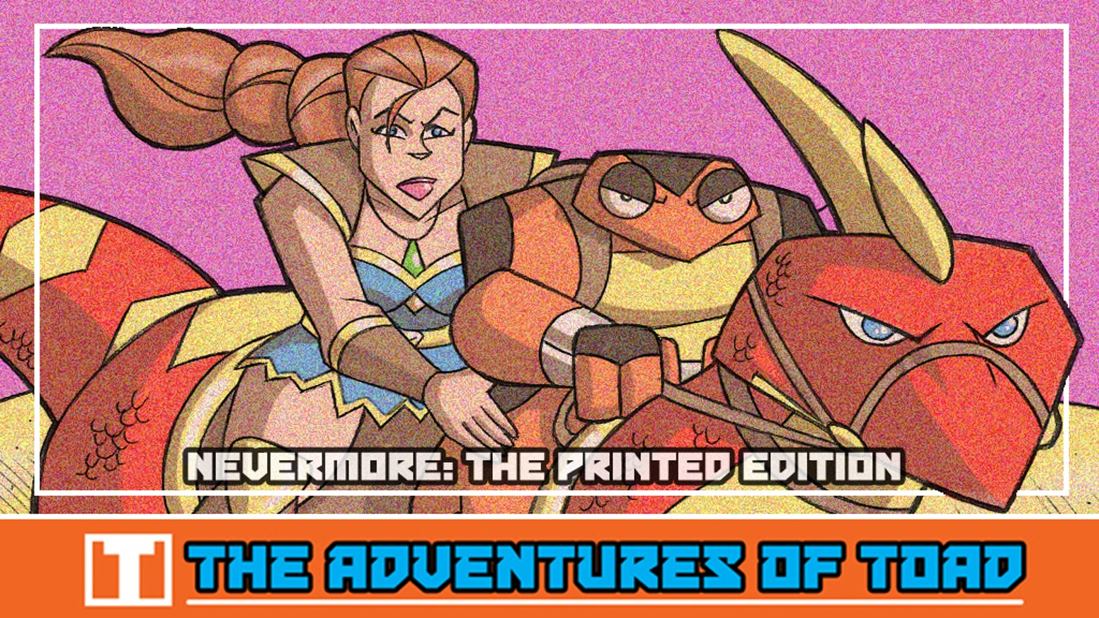 The action adventure webcomic The Adventures of Toad goes to print for the very first time!