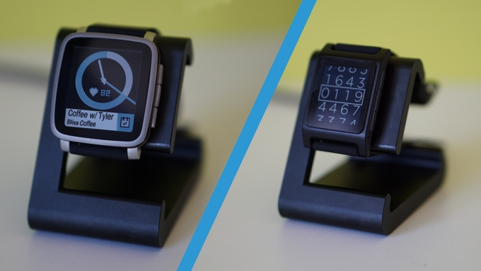 TimeDock works with the Pebble Time 2 and Pebble 2 (Images courtesy of Pebble)