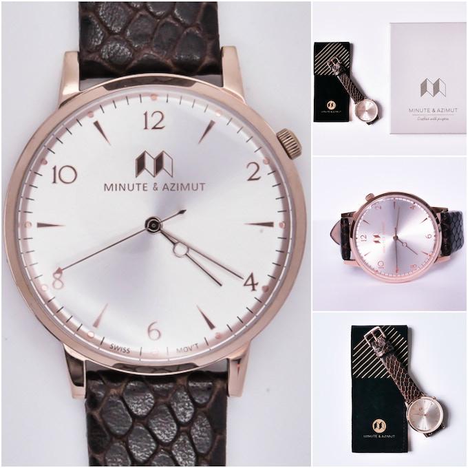 Bisham Copper + Pattern leather strap