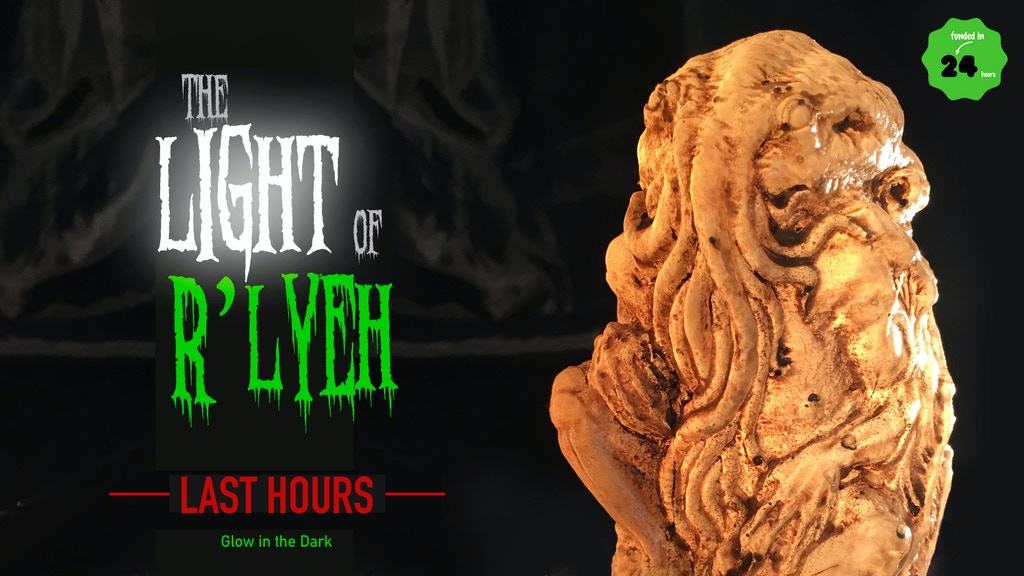 Flameless & classic Cthulhu candles in wax or resin, multiple colors, remote control & GITD. Cthulhu Project x Noah's Crate Studio.