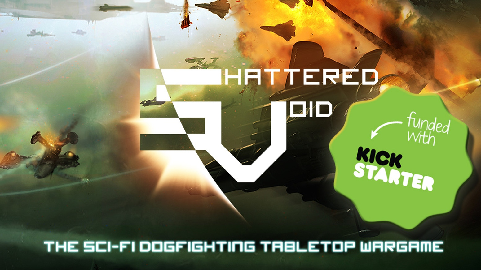 Shattered Void is a science-fiction based tabletop wargame in which squadrons of fighters battle for dominance in the vastness of space