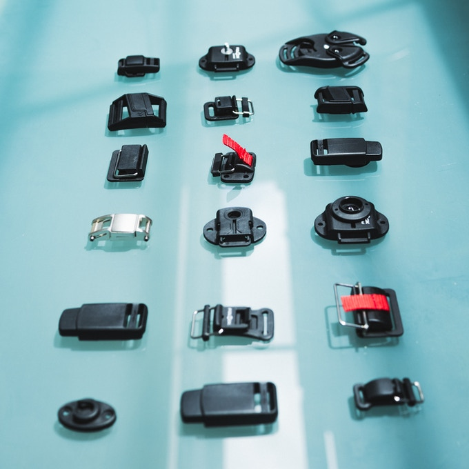 German designed magnetic latches used in our Mag-lock Straps.