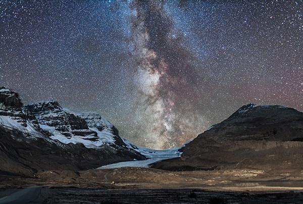 Milky Way over Athabasca Glacier