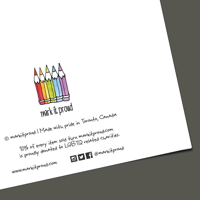 Mark it proud lgbtq inclusive greeting cards by daniel for Charity motors bridge card