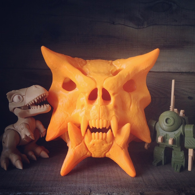 Depending on the size of your 3D Printer, you will be able to make Skull Wars skulls as LARGE (or small) as you want.