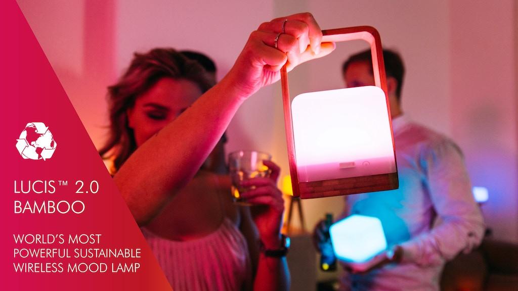 Lucis 2.0: Powerful Wireless Sustainable Mood Lamp (40watt) project video thumbnail