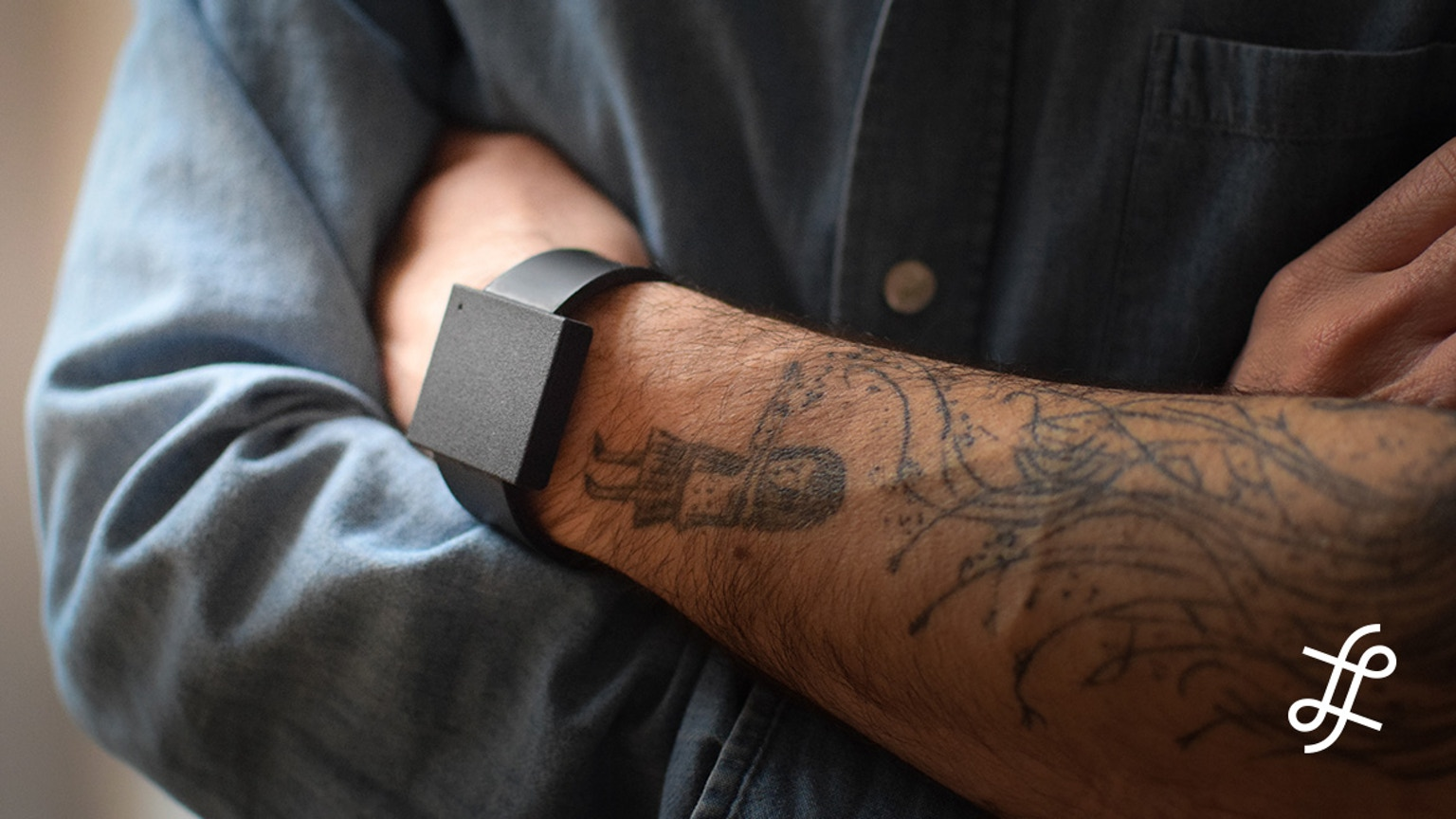 The Basslet aims to recreate the visceral experience of live shows on the go by delivering low... [+] frequencies to users' bodies, with the form factor of a smartwatch. (Photo courtesy of Lofelt)