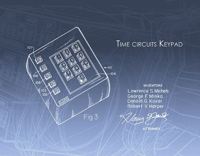 Time circuits Keypad original from TRW