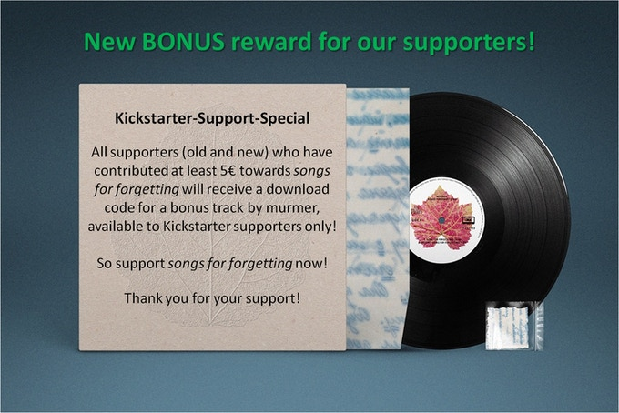 Here is our special reward for all supporters! Please go on supporting this amazing project.