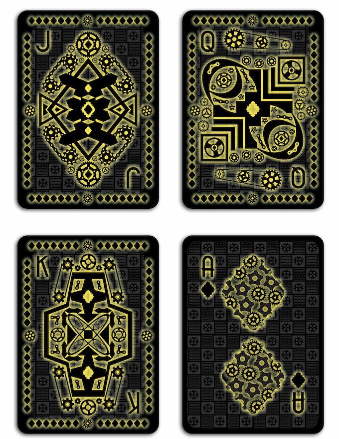 GLOW Deck - Diamond Court Cards