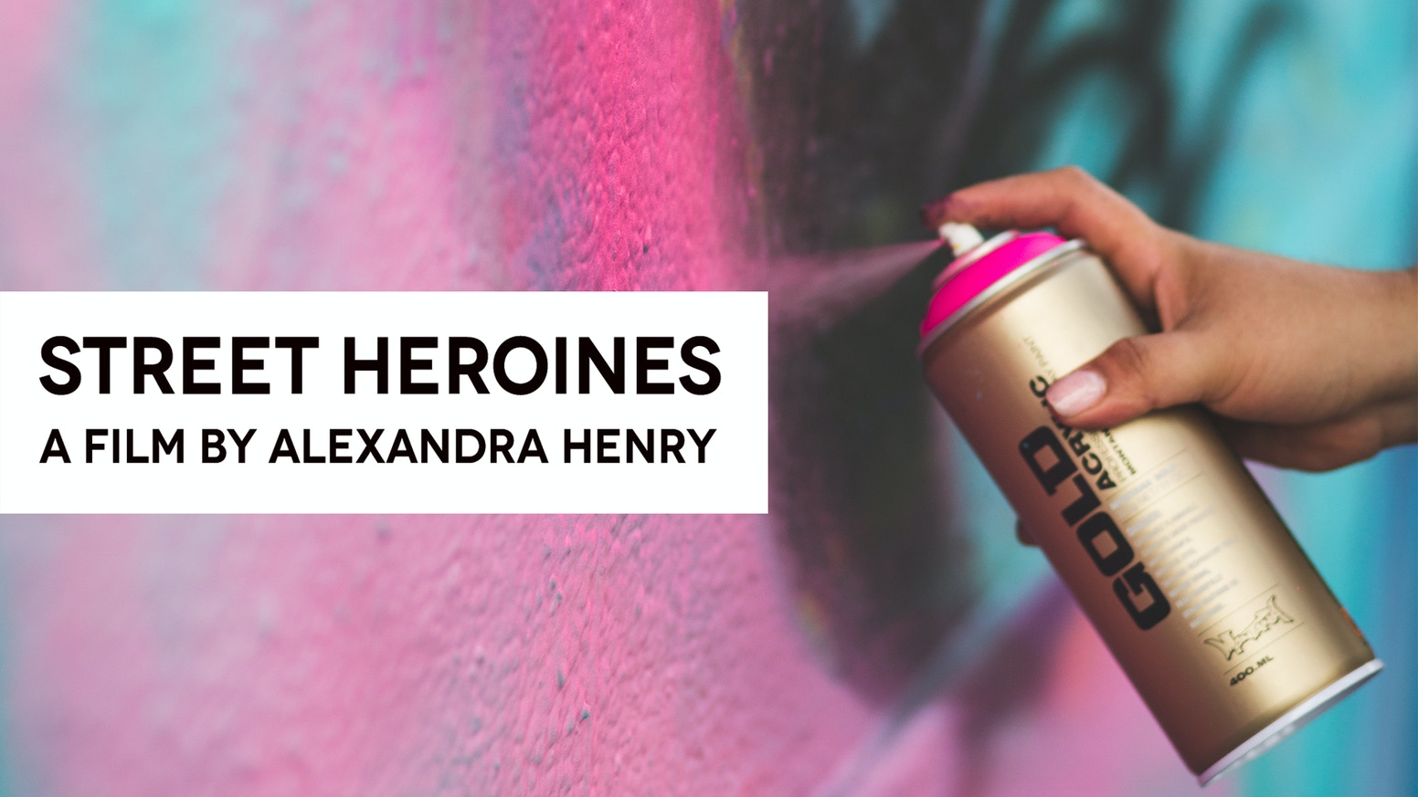 Street Heroines is a documentary film on the courage and creativity of female graffiti & street artists from around the world.
