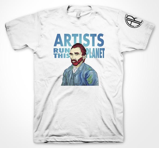 Artists Run This Planet 50/50 Blend T-Shirt