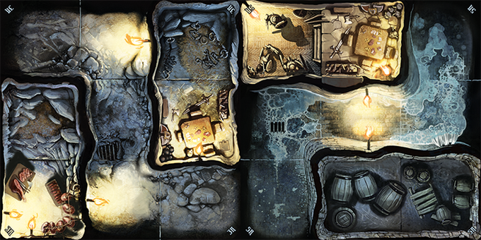 A Couple Tiles Showing Light And Dark Zones