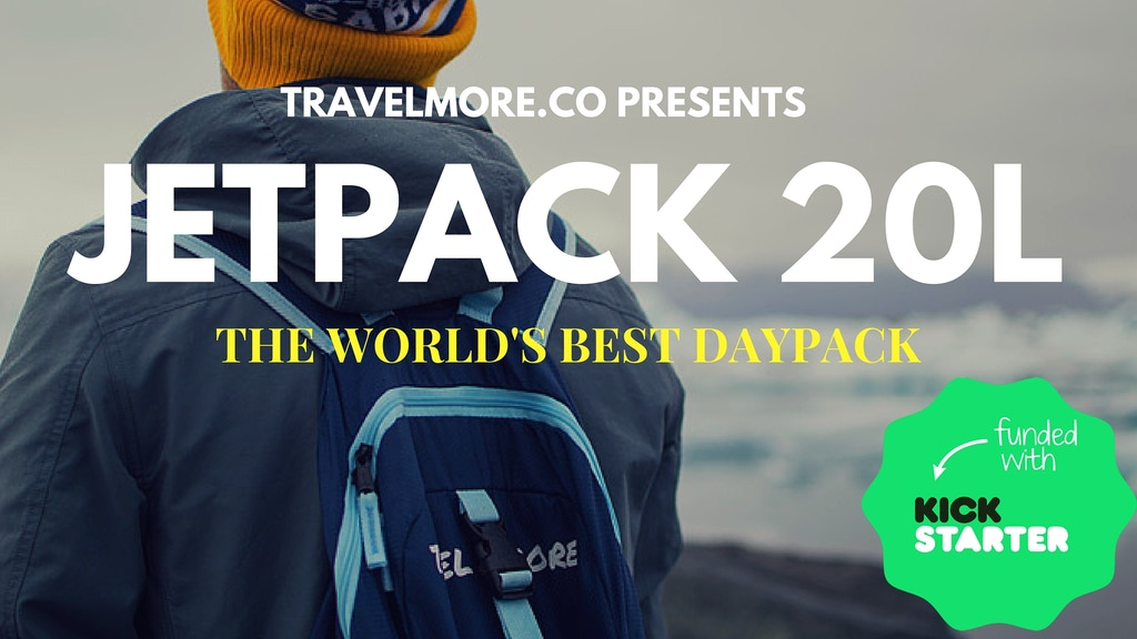 TravelMore Jetpack 20L | The World's Best Travel Daypack project video thumbnail