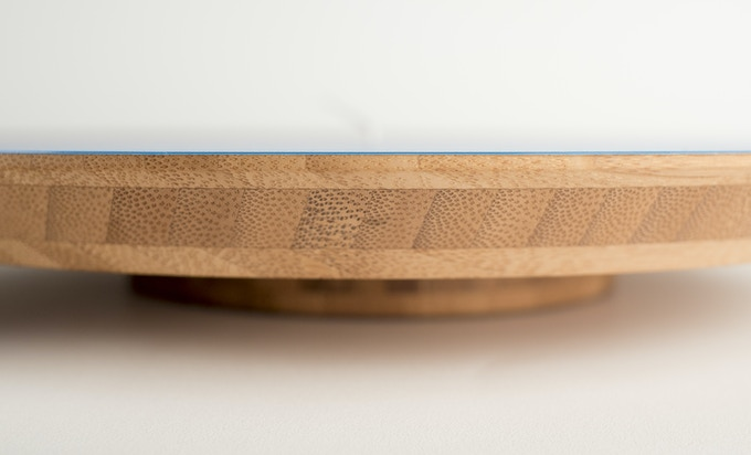 The edge of the bamboo clock is beautifully finished and meets the edge of the clock face precisely