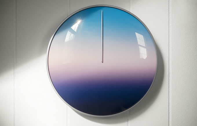 "TODAY - 11"" Steel and Glass Wall Clock"