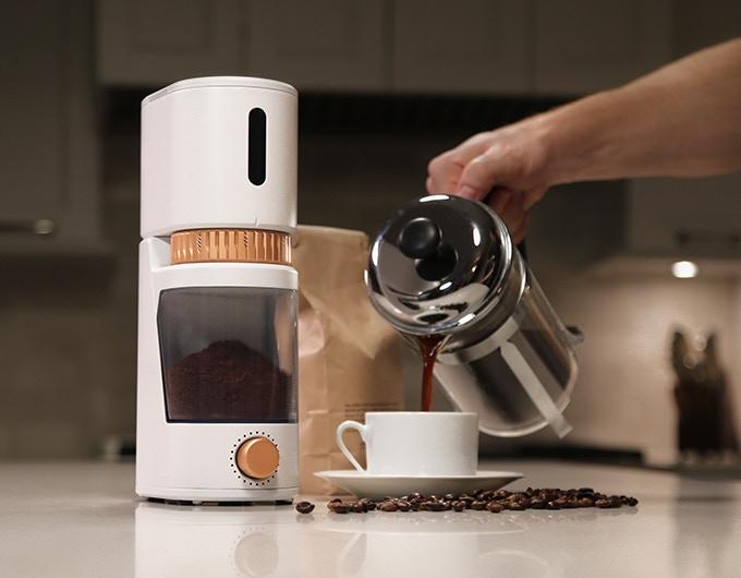 Delta Coffee Maker With Grinder : Voltaire Smart Grinder + Ever Cup Travel Mug by GIR: Get It Right Kickstarter