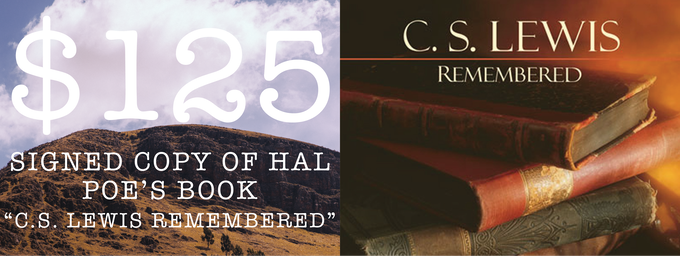 """Signed Copy Of Hal Poe's Book """"C.S. Lewis Remembered: Collected Reflections Of Students, Friends And Colleagues"""""""