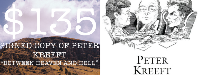 Signed copy of Peter Kraft's Best Selling Novel, Between Heaven and Hell!