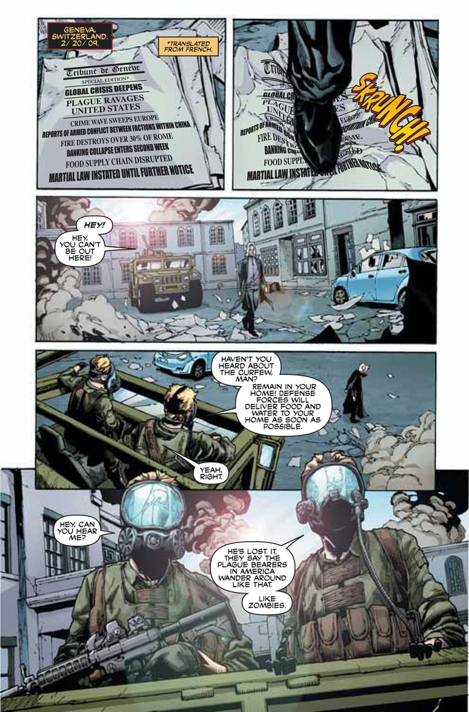 Early look at Days Missing Enox Graphic Novel!