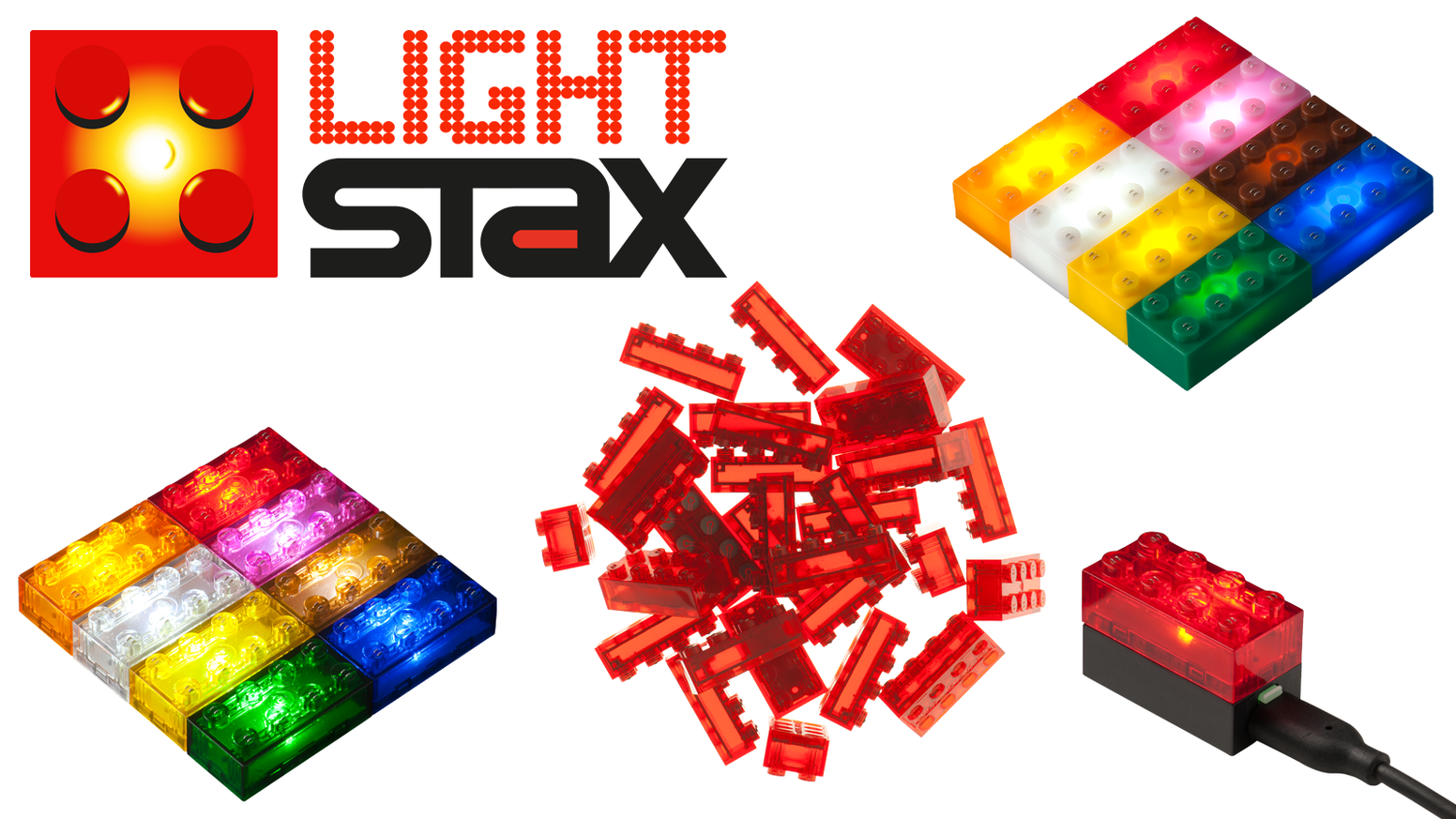 Light stax toy bricks meet led by arno fluitman kickstarter light stax are led bricks fully compatible with lego and other brands light asfbconference2016 Choice Image