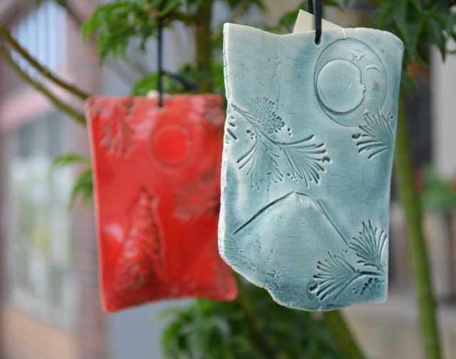 Pledge $50 - Handcrafted Pacific Northwest-themed ceramic 3'' emblem