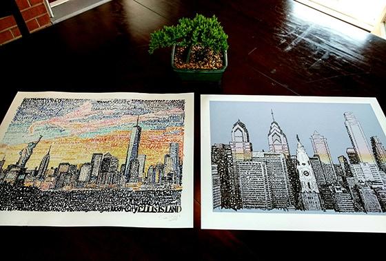 Skylines Currently Available - New York City & Philadelphia