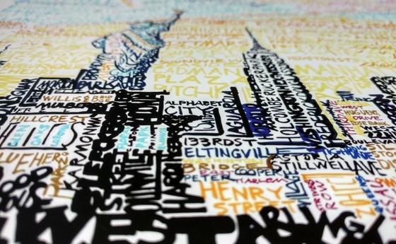 "NYC Skyline - Detailed View 16""x20"" Print"