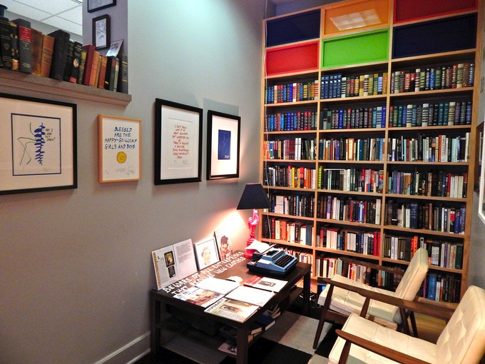 A replica of Kurt Vonnegut's study at the Kurt Vonnegut Museum * Library