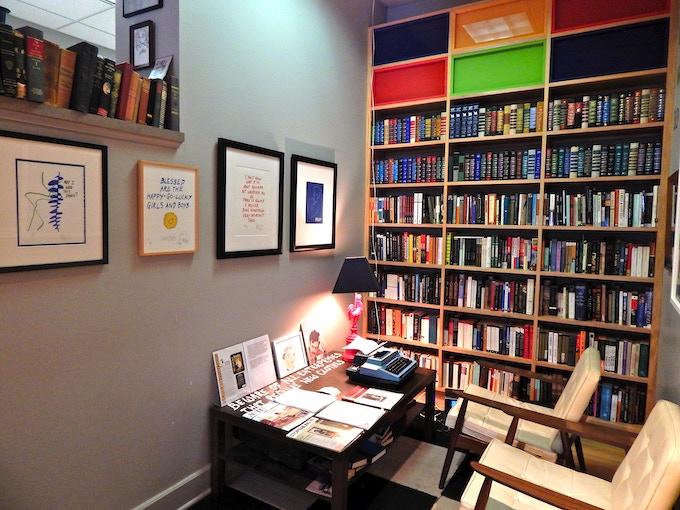 A replica of Kurt Vonnegut's study at the Kurt Vonnegut Museum * Library