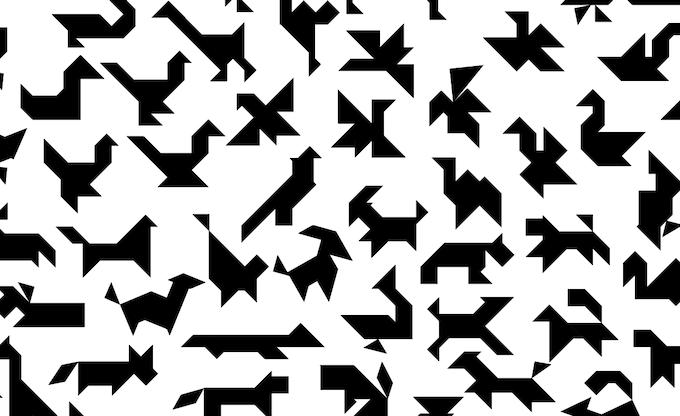 Calendar Typography Gear : Typographic tangram art by phil foss —kickstarter