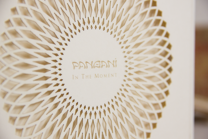 Cover with laser cut details.