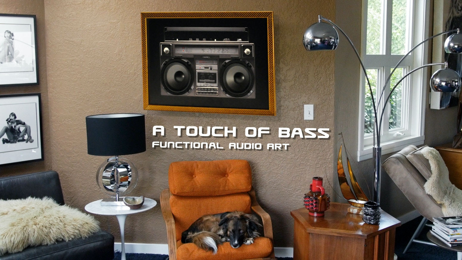 "Introducing, A ""Touch of Bass"", a unique, beautifully functional Art Print Sound-System that redefines your listening experience."