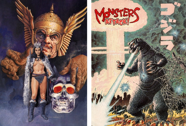 Some of the poster prints available by John Severin, Pat Boyette and Gray Morrow.