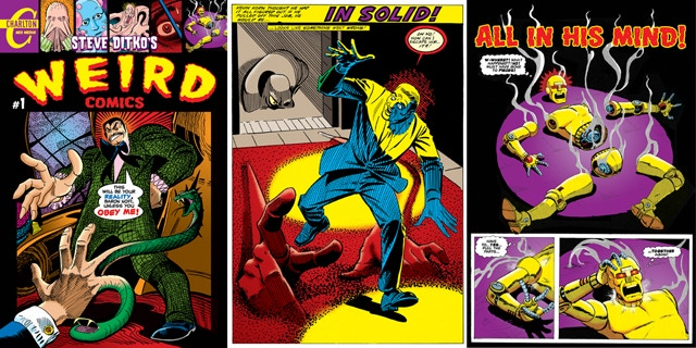 Get all the Steve Ditko comics from Monsters Attack! colored by Mort Todd (who also inked one of the stories).