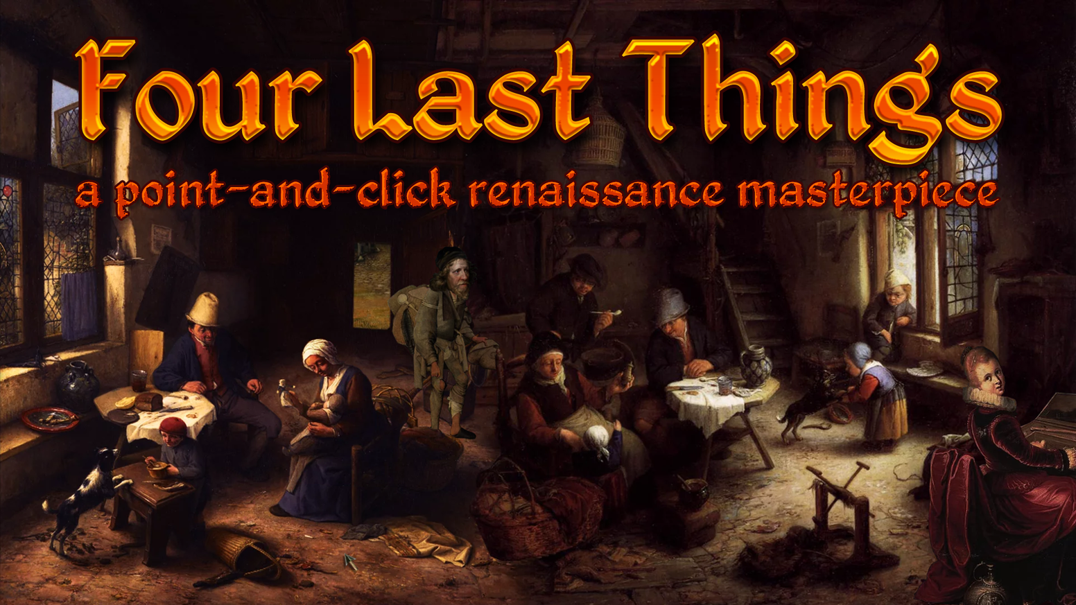 A point-and-click adventure game made from renaissance-era paintings and public domain recordings of classical music