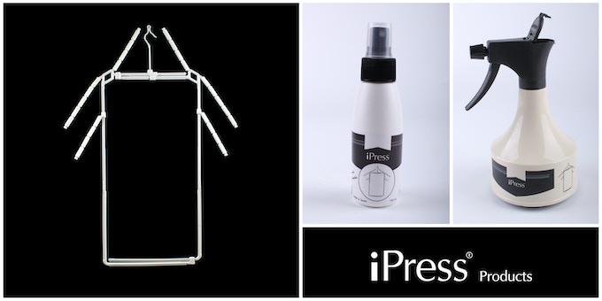 From left to right: iPress Hanger, iPress Sprayer Travel, iPress Sprayer Home