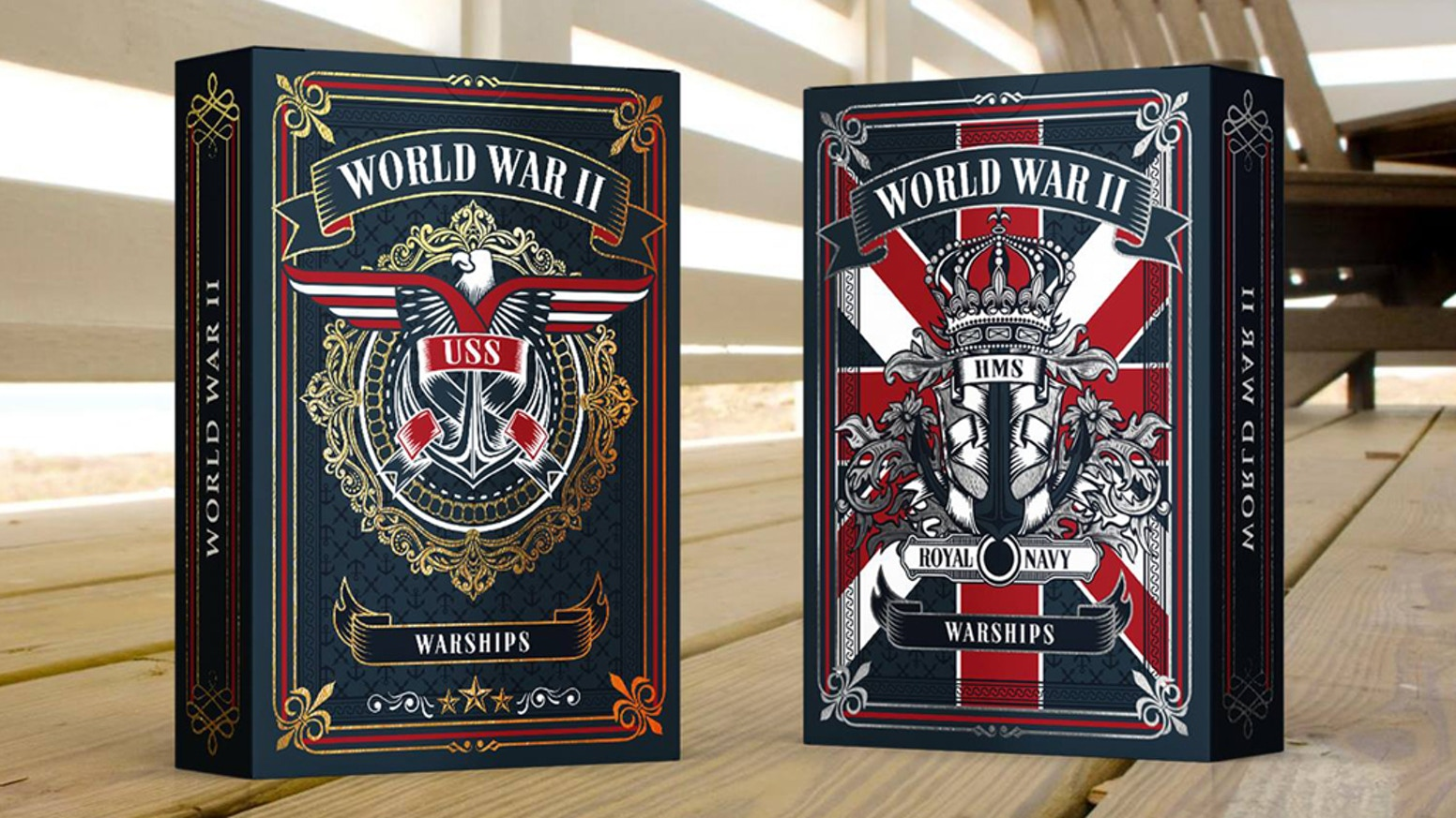 World War II Warships Playing Cards: US Navy / Royal Navy by