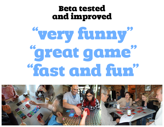 A beta test was held with about 30 participants to help refine the game