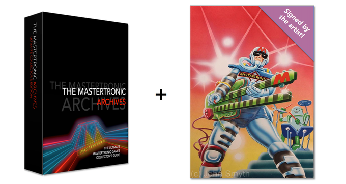 512 page Collector's Edition PLUS an A3 Mistertronic poster signed by artist John the Brush.