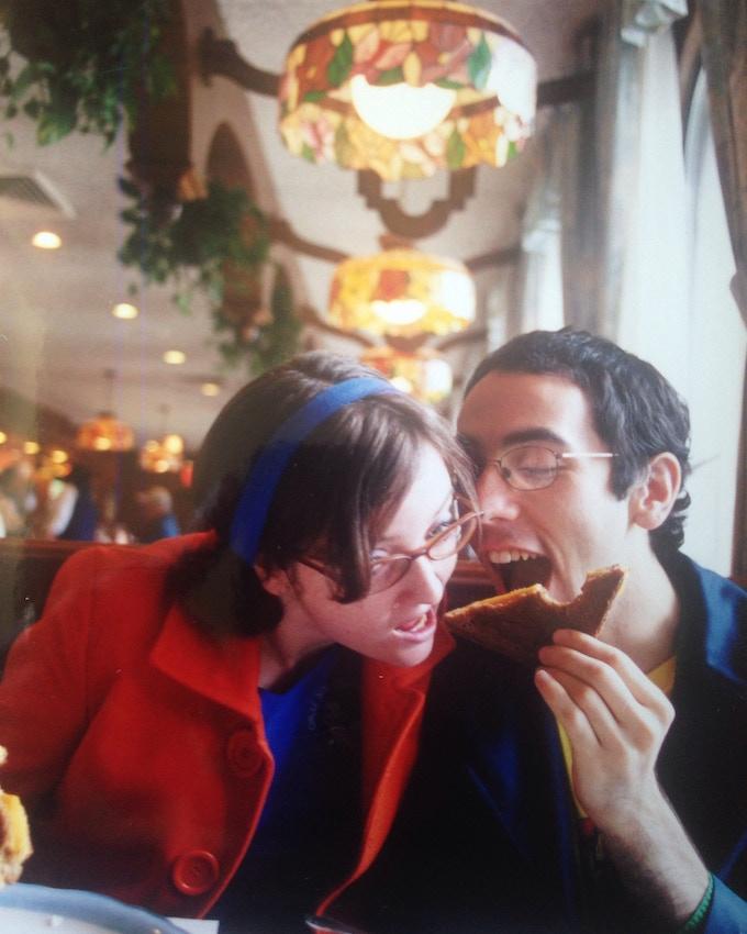 Dan & Sara's first photo shoot, 2004. Photo by Yoko Kikuchi.