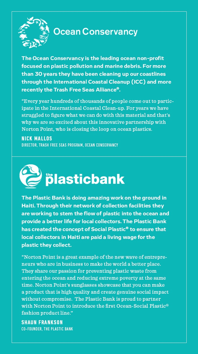 e4920045dec9 That s why we are excited to have exclusive eyewear partnerships with the  Ocean Conservancy and the Plastic Bank who are passionately championing the  fight ...