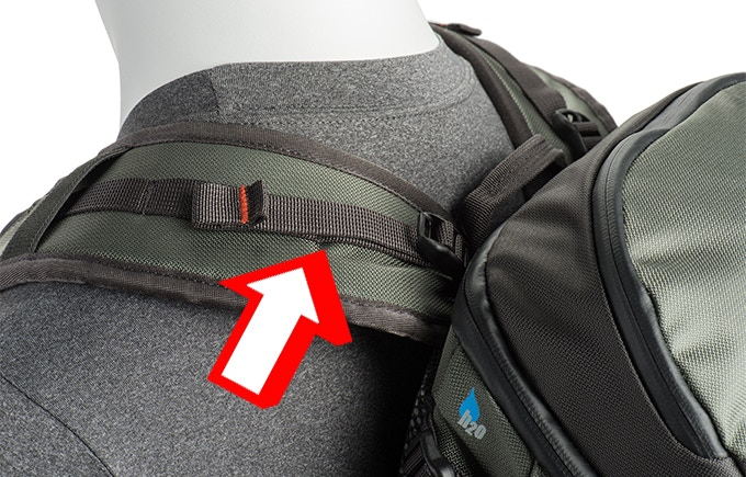 Load-lifter straps adjust the weight distribution and customize fit