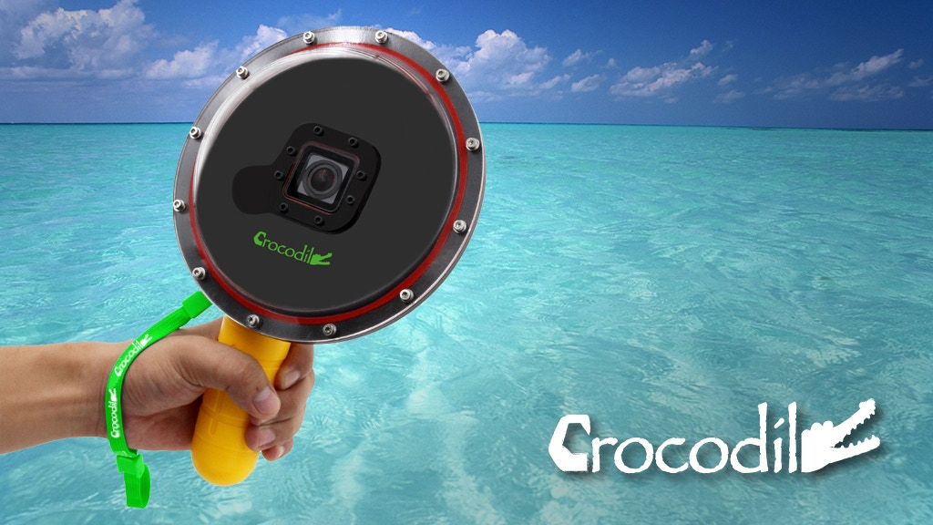 Project image for Crocodile / To shoot half underwater Go Pro photos.