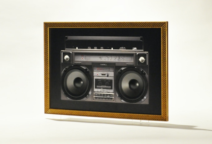 A Wall mounted Bluetooth Soundsystem