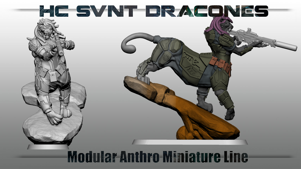 HSD anthro scifi miniatures project video thumbnail