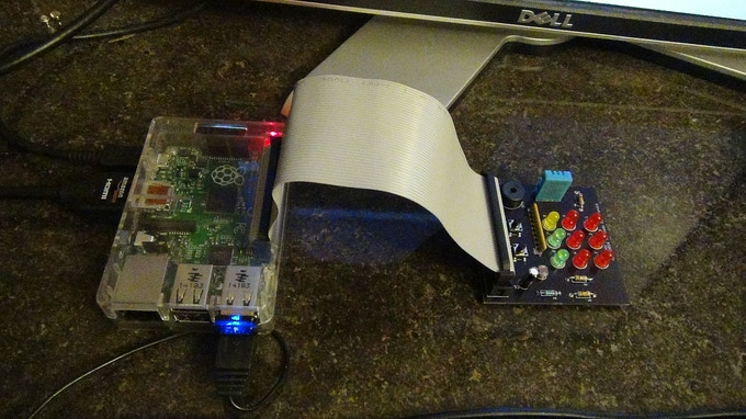 Avocado Pi (right) connected to the Raspberry Pi.